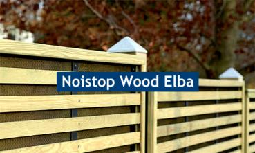 Noistop Wood Typ Elba, lightgreen 1.000 x 1.000 x 170 mm